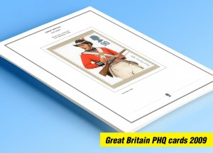 COLOR PRINTED GREAT BRITAIN 2009 PHQ CARDS STAMP ALBUM PAGES (114 illust. pages)