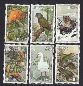 Jersey  1984  MNH wildlife preservation trust (4th) set