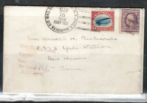 USA #C3 & #501 Used On First Flight Cover With Special Airmail Service Postmark
