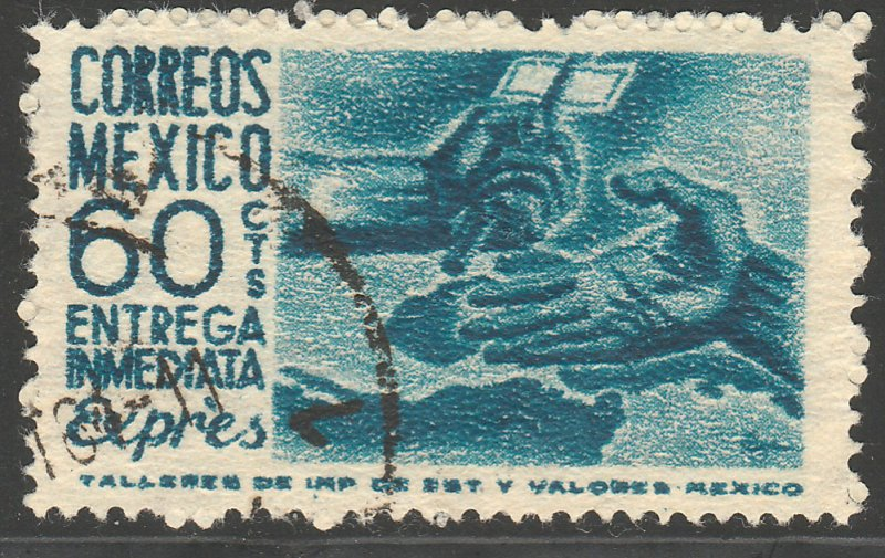MEXICO E11, 60¢ Hands of paynani, Special Delivery. USED. F-VF. (948)