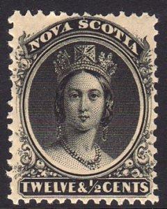 1872 Canada Nova Scotia Queen Victoria QV 12½¢ MMH Sc# 13 CV $42.50