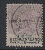 Bechuanaland  SG 41 Fine Used - Opt   - Position flaw Shift