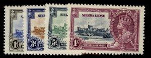 SIERRA LEONE GV SG181-184, SILVER JUBILEE set, M MINT. Cat £32.