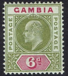 GAMBIA 1902 KEVII KEY TYPE 6D WMK CROWN CA