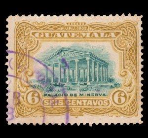 GUATEMALA STAMP 1902 SCOTT # 117. USED. # 1