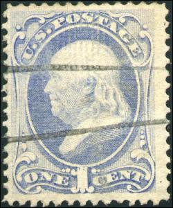 1870 US #134A A44 1c Used I Grill Stamp Catalogue Value $375