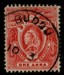 UGANDA c1900 QV 1a used - BUDDU cds - scarce used only 1899-1903...........48992