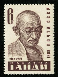 Mahatma Gandhi, 6 kop, MNH **, MC #3666 (T-7124)