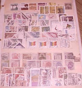 IVORY COAST 30 DIFF. STAMPS & TCHAD 50 DIFF. USED TOTAL 200 INCLUDE DUPLICATE
