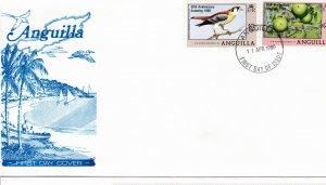 Anguilla 1980 Sc 387-8 Commemorative Perforate FDC