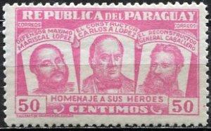 Paraguay; 1954: Sc. # 483: *+/MLH Single Stamp