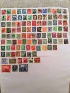 Early German 100+ stamps - Lot G
