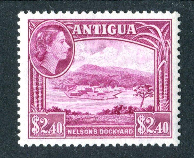 Antigua 1953 QEII. $2.40 bright reddish purple. Mint. NH. SG133.