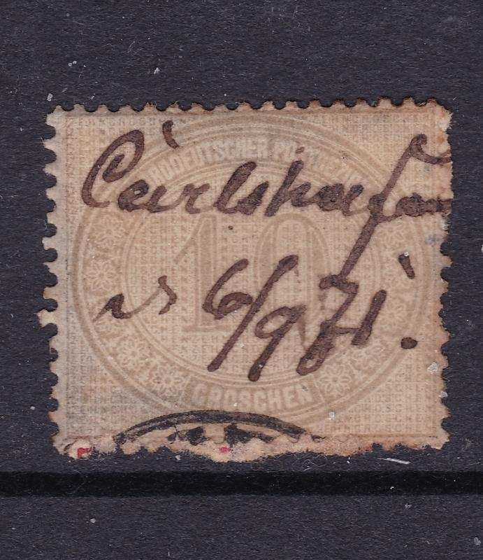 North German Confed. a used 10g from 1869
