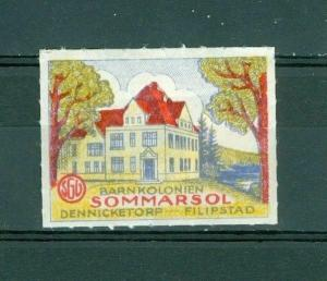 Sweden. Poster Stamp  SGU Templar Order IOGT. Sommarsol Dennicketorp.Filipstad