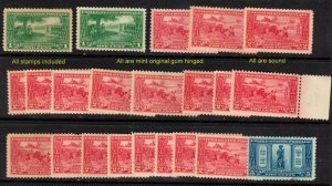 #614-616 Dealer closeout1c.2c.5c  HUGENOT WALLOON  MINT OGH selection⭐⭐⭐