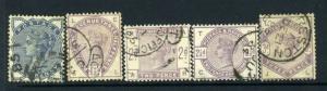 Britain #98-102 Fantastic and clean -nice (USED)  cv$235.00
