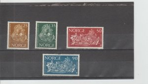 Norway  Scott#  433-436  MH  (1963 Freedom From Hunger)