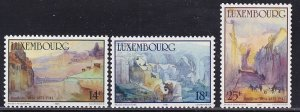 Luxembourg   #844-846    MNH  1991  paintings Weis
