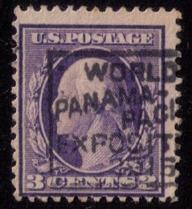 US Sc 376 USED CANCELLED - WORLD'S PANAMA- PACIFIC INT'L EXPO 1915 FINE