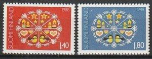 1988 Finland - Sc 783-4 - MNH VF - 2 single - Christmas