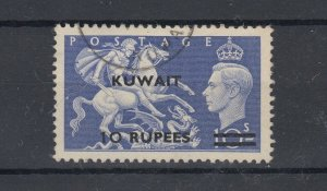 Kuwait KGVI 1954 10R On 10/- SG92 VFU JK3825