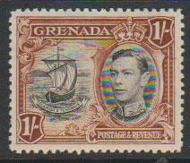 Grenada  GVI SG 160 perf 12½  Light mounted mint