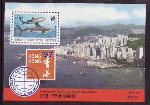 BIOT-Sc#159a-unused NH sheet-Marine Life-Sharks-1994-