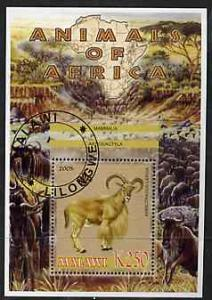 MALAWI SHEET USED WILDLIFE