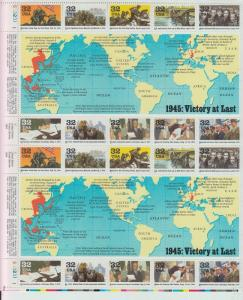 US MINT SHEET LOTS 4 WWII SHEETS SHEETS OF 20 EACH FACE $23.80 @ 90% FACE