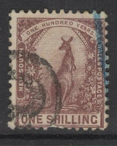 NEW SOUTH WALES SG348 1908 1/= PURPLE-BROWN USED