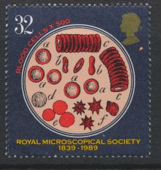 Great Britain  SG 1455 SC# 1287 Used / FU with First Day Cancel-  Microscopia...