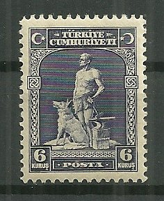1929 Turkey Sc679 6K of First Latin Inscribed issue MH