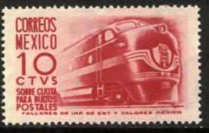 MEXICO Q9 10cents 1950 Definitive 2nd Printing wmk 300 UNUSED, H OG. VF.