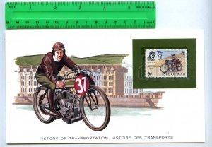 255171 ISLE of MAN motorcycle motorbicycle mint stamp