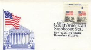 1983 Flag over Supreme Court Pl#2 (Scott 1896) Gamm U/O