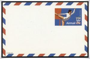 SC#UXC18 21¢ Gymnast Postal Card
