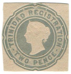 (I.B) Trinidad & Tobago Postal : Stationery Die 2d