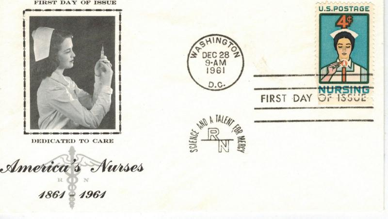 Honoring America Nurses Nursing Profession 1190-27 Better FDC Dedicated To Care