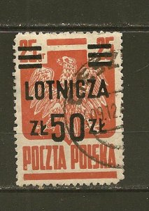 Poland C20 Airmail Surcharged Used
