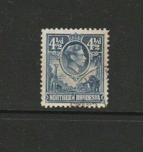 Northern Rhodesia 1938 GV1 4 1/2d FU SG 37