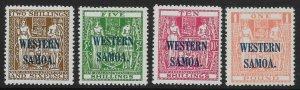 SAMOA SG207/10 1945-8 ARMS OVPT SET TO £1 MNH