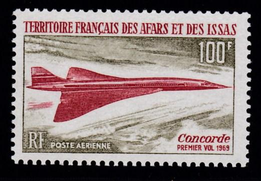 Afars & Issas French Area 1969 CONCORDE Airmail VF/NH