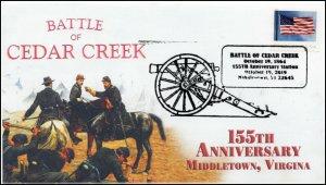 19-243, 2019, Battle of Cedar Creek, Pictorial Postmark, Event Cover, 155th Anni