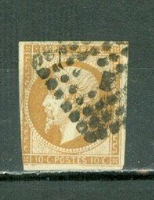 FRANCE 1860 NAPOLEON #14c TYPE 2... FINE-VERY FINE USED NO THINS