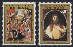 Mali Rembrandt Raphael Easter Paintings 2v issue 1981 SG#847-848 SC#C419-C420