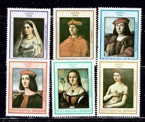 Cuba 2607-12 MNH 1983 Paintings    (ap2023)