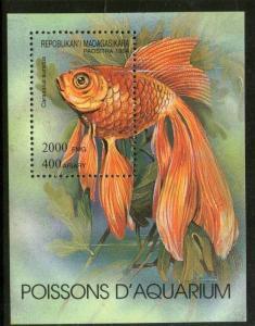 Malagasy 1994 Aquarium Fish Marine Life Sc 1199 M/s MNH # 357