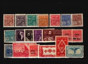 Brazil 20 Mostly Mint, with faults - C1914