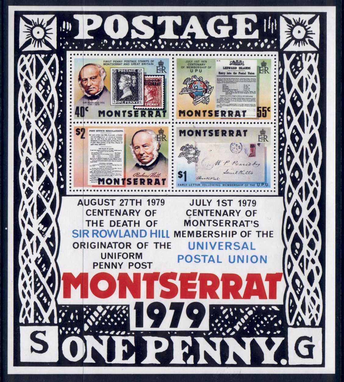Montserrat 409a MNH Rowland Hill, Stamp on Stamp / HipStamp